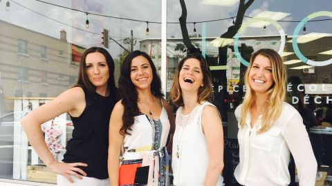 The four female co-founders of zero-waste shop Épicerie Loco: Marie-Soleil L'Allier, Sophie Maccario, Martine Gariépy and Andréanne Laurin.