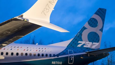 RENTON, WA - DECEMBER 8: A winglet on the first Boeing 737 MAX  airliner is pictured at the company's manufacturing plant, on December 8, 2015, in Renton, Washington. The plane is the newest, most fuel efficient version of Boeing's best-selling plane. (Photo by Stephen Brashear/Getty Images)