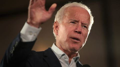 """BRIDGETON, MO - OCTOBER 31:  Former Vice President Joe Biden speaks to supporters of Senator Claire McCaskill at a """"get out the vote"""" rally which on October 31, 2018 in Bridgeton, Missouri. McCaskill is in a tight race with her Republican challenger Missouri Attorney General Josh Hawley.  (Photo by Scott Olson/Getty Images)"""