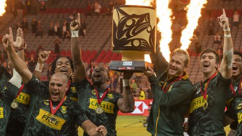 South Africa overcame France 21-12 to win its first title of the season. The World Series' defending champion saw off Argentina and Fiji in the knockout stages before outscoring Les Bleus by three tries to two in the final in Vancouver.