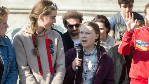 Swedish climate activist Greta Thunberg speaks at the 'Youth For Climate' protest in Paris, France, Friday 22 February 2019.