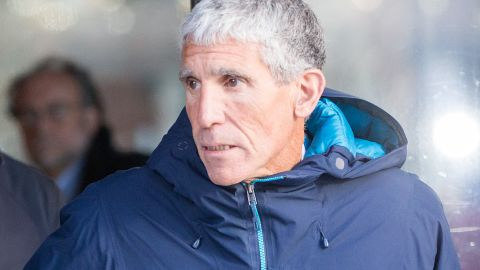 """BOSTON, MA - MARCH 12:  William """"Rick"""" Singer leaves Boston Federal Court after being charged with racketeering conspiracy, money laundering conspiracy, conspiracy to defraud the United States, and obstruction of justice on March 12, 2019 in Boston, Massachusetts. Singer is among several charged in alleged college admissions scam.  (Photo by Scott Eisen/Getty Images)"""