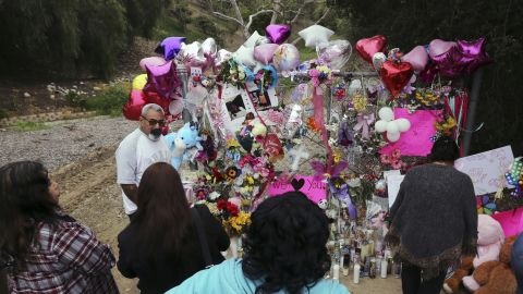 A large memorial to Trinity Love Jones was set up near the spot where her body was found.
