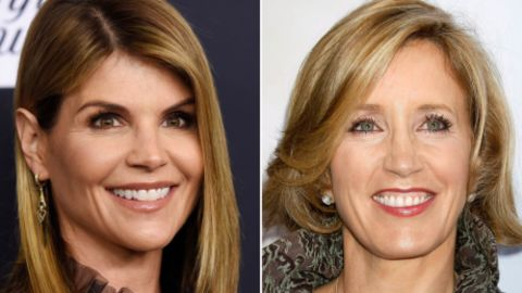 Actresses Felicity Huffman and Lori Loughlin were among those arrested in a college admissions bribery scandal. Credit: (L) AP Photo  (R) zz/NPX/STAR MAX