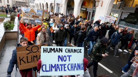 Belgium: A Youth 4 Climate rally is held in Brussels on January 17, 2019.