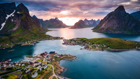<strong>3. Norway.</strong> The Lofoten islands above the Arctic Circle offer mountains and beaches, a strong fishing culture and opportunities to explore the region's Viking past.