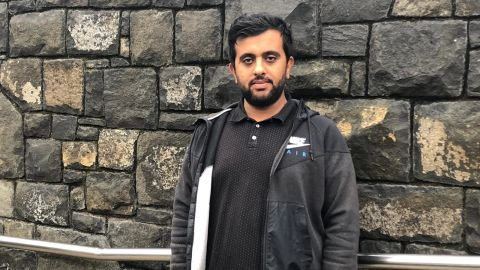 Ahmad Khan said he watched as a man was shot dead in his arms during one of the mosque shootings.