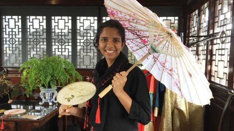 Alibava finished her master's degree earlier this year, after doing extra study last summer.