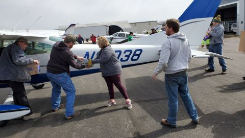 Private pilots stepped in to help stranded residents in Fermont, Nebraska.