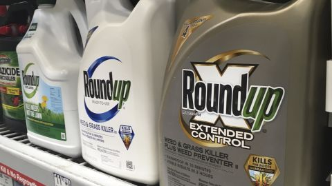 In this Sunday, Feb. 24, 2019 photo, containers of Roundup are displayed on a store shelf in San Francisco. A jury in federal court in San Francisco will decide whether Roundup weed killer caused a California man's cancer in a trial starting Monday, Feb. 25 that plaintiffs' attorneys say could help determine the fate of hundreds of similar lawsuits. Edwin Hardeman, 70, is the second plaintiff to go to trial of thousands around the country who claim agribusiness giant Monsanto's weed killer causes cancer. (AP Photo/Haven Daley)