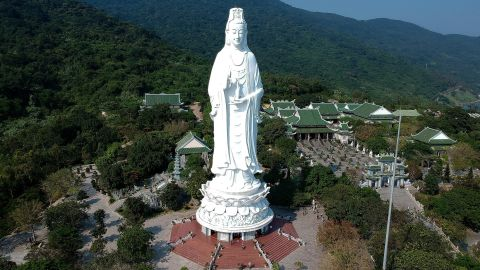 <strong>Da Nang, Vietnam:</strong> Lady Buddha, the tallest Buddha statue in Vietnam, towers over the coastal city on a bright March day.