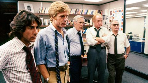 """<strong>""""All the President's Men""""</strong>: Dustin Hoffman and Robert Redford star as Washington Post journalists Carl Bernstein and Bob Woodward in this political thriller about the Watergate scandal. <strong>(Netflix) </strong>"""