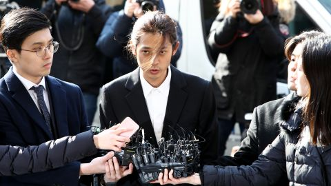 Jung Joon-young was arrested by police in South Korea on Thursday.