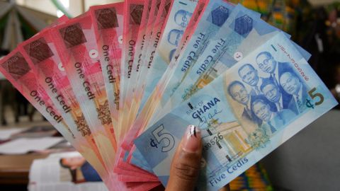 A technical glitch devalued Ghana's currency for a brief time last week, officials said.