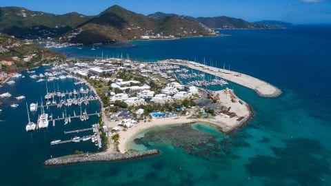 The Nanny Cay Marina is host to the BVI Spring Regatta.