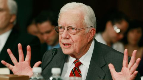 Carter testifies in May 2009 during a Senate Foreign Relations Committee hearing on energy independence and security.