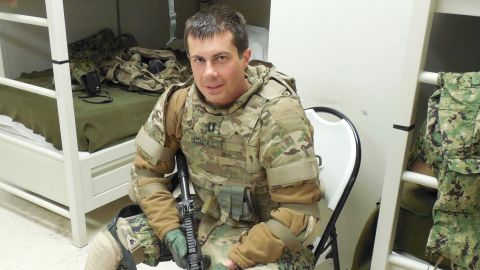 Buttigieg was an intelligence officer with the Navy Reserve from 2009 until 2017, and he served in the war in Afghanistan.