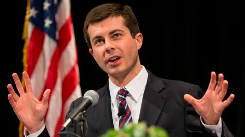 Buttigieg delivers his State of the City address in February 2014.