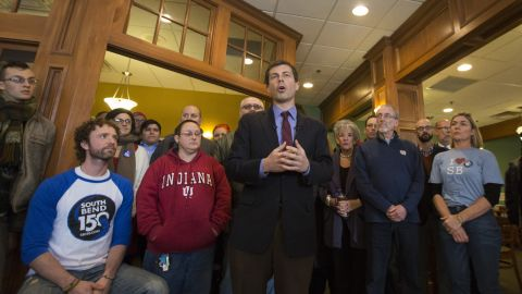 Buttigieg speaks out about the Religious Freedom Restoration Act that was signed in Indiana in March 2015. Buttigieg and other critics of the legislation, which was signed into law by then-Indiana Gov. Mike Pence, contended that individuals and businesses could use it to discriminate against the gay community on the basis of religion. Pence later signed an amendment that was intended to protect the rights of LGBT people.