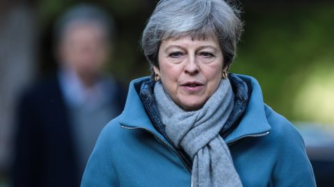 AYLESBURY, ENGLAND - MARCH 24: British Prime Minister Theresa May attends a church service on March 24, 2019 in Aylesbury, England. Mrs May is reportedly facing pressure from within the Conservative party to quit over her handling of the Brexit process. (Photo by Jack Taylor/Getty Images)