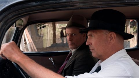 Woody Harrelson, Kevin Costner in 'The Highwaymen' (Hilary B Gayle / Courtesy of Netflix)
