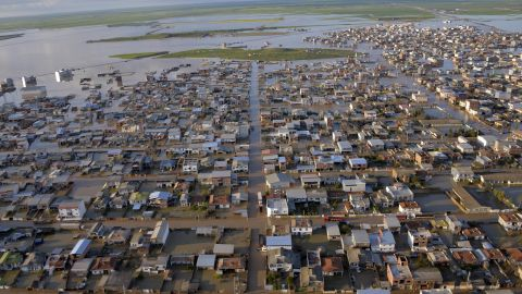 """TOPSHOT - This photograph released by the Iranian news agency Fars News on March 23, 2019, shows flooded streets in the northern Iranian village of Agh Ghaleh. (Photo by Ali DEHGHAN / fars news / AFP) / XGTY / === RESTRICTED TO EDITORIAL USE - MANDATORY CREDIT """"AFP PHOTO / HO /FARS NEWS"""" - NO MARKETING NO ADVERTISING CAMPAIGNS - DISTRIBUTED AS A SERVICE TO CLIENTS === == best quality available==        (Photo credit should read ALI DEHGHAN/AFP/Getty Images)"""