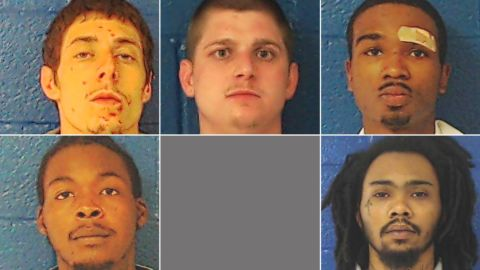 The inmates, clockwise from bottom left, are Raheem Horne, David Viverette, David Ruffin Jr., Keonte Murphy and Laquaris Battle.