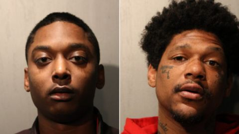 Suspects Menelik Jackson, 24, and Jovan Battle, 32, were arrested Monday.