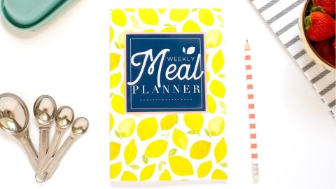 """<strong>Plan your meals ahead with this bright yellow planner </strong>52-Week Meal Planner ($6.51;<a href=""""https://amzn.to/2HyeR2Q"""" target=""""_blank"""" target=""""_blank""""> amazon.com</a>)"""
