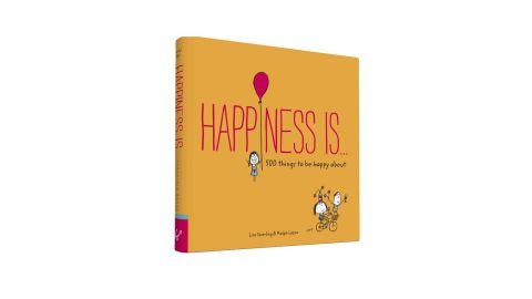 "<strong>A book that will remind you of 500 little things to be happy about</strong> ""Happiness Is..."" by Lisa Swerling & Ralph Lazar ($5.88; <a href=""http://www.anrdoezrs.net/links/8314883/type/dlg/sid/032250under15/https://www.barnesandnoble.com/p/happiness-is-lisa-swerling/1120330814/2661420468238?st=PLA&sid=BNB_ADL+Marketplace+Generic+New+Books+-+Desktop+Medium&sourceId=PLAGoNA&dpid=tdtve346c&2sid=Google_c&gclid=Cj0KCQjwkIzlBRDzARIsABgXqV-ofN-3PZcMcphjGweO3MJ07oNci1N1LyDkl4EpBw5YQpprQ9dYI4IaAlmtEALw_wcB"" target=""_blank"" target=""_blank"">barnesandnoble.com</a>)"