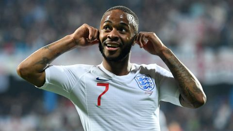 Raheem Sterling used his goal celebration during England's 5-1 win over Montenegro to address the alleged racist chanting that he and his teammates had been subjected do.