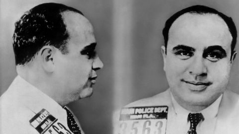 Al Capone, the infamous leader of the Chicago Mafia, orchestrated gambling, protection, prostitution and bootlegging rackets.