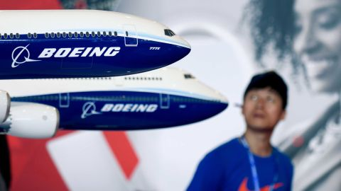 A Boeing 777X model is displayed at the Airshow China 2018 in Zhuhai in southern China's Guangdong province on November 7, 2018. (Photo by WANG Zhao / AFP)        (Photo credit should read WANG ZHAO/AFP/Getty Images)