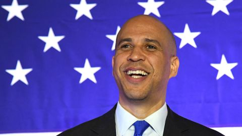"""NORTH LAS VEGAS, NEVADA - FEBRUARY 24:  U.S. Sen. Cory Booker (D-NJ) speaks at his """"Conversation with Cory"""" campaign event at the Nevada Partners Event Center on February 24, 2019 in North Las Vegas, Nevada. Booker is campaigning for the 2020 Democratic nomination for president.  (Photo by Ethan Miller/Getty Images)"""