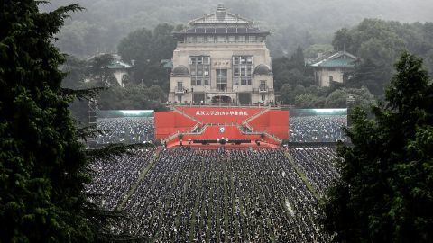 A graduation ceremony at Wuhan University on June 22.