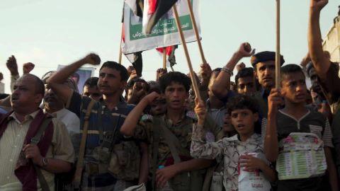 Yemen anniversary protest