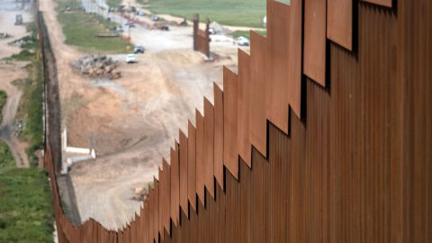 A section of the US-Mexico border fence seen from Tijuana, in Baja California state, Mexico, on March 26, 2019. - A Democrat-led congressional committee challenged Tuesday the Pentagon's plan to divert $1 billion to support President Donald Trump's plan to build a wall on the US-Mexico border. Less than one day after acting Pentagon chief Patrick Shanahan authorized moving the $1 billion from existing Defense Department projects to border construction, the House Armed Services Committee said this move was not permitted. (Photo by Guillermo Arias / AFP)        (Photo credit should read GUILLERMO ARIAS/AFP/Getty Images)