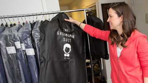Foley started her menwear business out of her New York City apartment. The company eventually moved to Chicago.