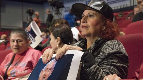 "Sosh Sharabi, 66, ""I'm proud of Bibi and wish him luck. No matter what we will be by his side."" Aviva Machlu, 64, ""I vote for Bibi because I trust him"""