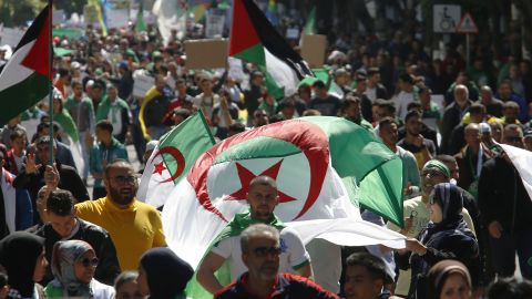 Demonstrators have marched for nearly a week demanding the resignation of President Abdelaziz Bouteflika in Algiers, Algeria.