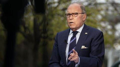 Director of the National Economic Council Larry Kudlow speaks during after a TV interview with Fox Business Network on the ground of the White House November 20, 2018 in Washington, DC. Kudlow said that new phase of tax reform won't be happening during the lame duck session of the current Congress.