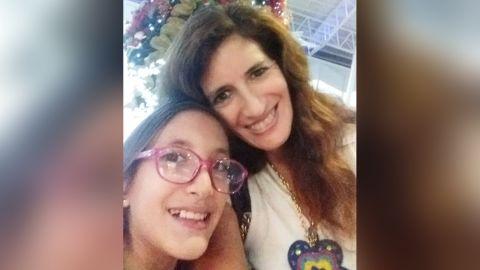 Rosa Larrauri, 49, and her daughter Sophia, 10.