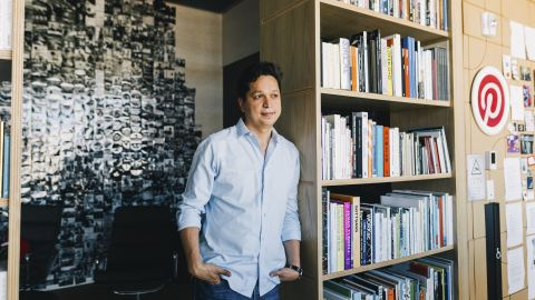 Ben Silbermann, the chief executive of Pinterest, in San Francisco, Aug. 31, 2018. Pinterest has rejected Silicon Valley's aggressive, hype-driven way of doing business. But its slow-and-steady approach has long frustrated some investors. (Anastasiia Sapon/The New York Times)