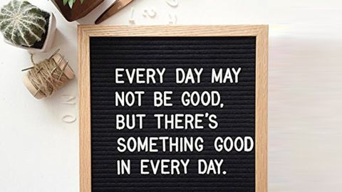 """<strong> A creative way to spell out your personal mantras</strong> Letter Board 10x10 ($12.95; <a href=""""https://amzn.to/2HSXJoS"""" target=""""_blank"""" target=""""_blank"""">amazon.com</a>)"""