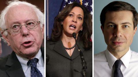 Bernie Sanders, Kamala Harris, Pete Buttigieg