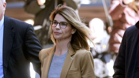 Actress Lori Loughlin arrives at federal court in Boston on Wednesday, April 3, 2019, to face charges in a nationwide college admissions bribery scandal.