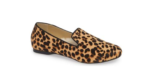 """<strong>The Starling Slipper, Cheetah ($140;</strong><a href=""""https://click.linksynergy.com/deeplink?id=Fr/49/7rhGg&mid=1237&u1=0405birdies&murl=https%3A%2F%2Fshop.nordstrom.com%2Fs%2Fbirdies-the-starling-slipper-women%2F5105383%3Forigin%3Dcategory-personalizedsort%26breadcrumb%3DHome%252FWomen%252FShoes%252FSlippers%26color%3Dcheetah"""" target=""""_blank"""" target=""""_blank""""><strong> nordstrom.com</strong></a><strong>)</strong>"""