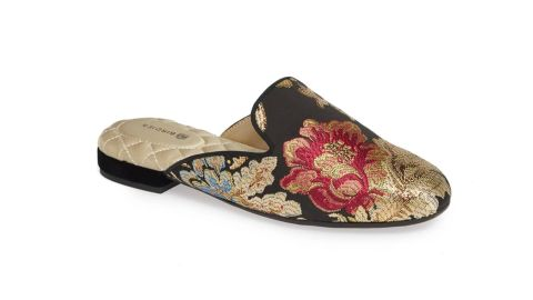 """<strong>The Phoebe Slipper, Floral Jacquard Satin ($140; </strong><a href=""""https://click.linksynergy.com/deeplink?id=Fr/49/7rhGg&mid=1237&u1=0405birdies&murl=https%3A%2F%2Fshop.nordstrom.com%2Fs%2Fbirdies-phoebe-slipper-women%2F5105376%3Forigin%3Dcategory-personalizedsort%26breadcrumb%3DHome%252FWomen%252FShoes%252FSlippers%26color%3Dfloral%2520jacquard%2520satin"""" target=""""_blank"""" target=""""_blank""""><strong>nordstrom.com</strong></a><strong>)</strong>"""