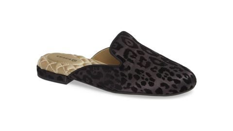 """<strong>The Phoebe Slipper, Black Leopard Velvet ($140; </strong><a href=""""https://click.linksynergy.com/deeplink?id=Fr/49/7rhGg&mid=1237&u1=0405birdies&murl=https%3A%2F%2Fshop.nordstrom.com%2Fs%2Fbirdies-the-phoebe-slipper-women%2F5105375%3Forigin%3Dcategory-personalizedsort%26breadcrumb%3DHome%252FWomen%252FShoes%252FSlippers%26color%3Dblack%2520leopard%2520velvet"""" target=""""_blank"""" target=""""_blank""""><strong>nordstrom.com</strong></a><strong>) </strong>"""
