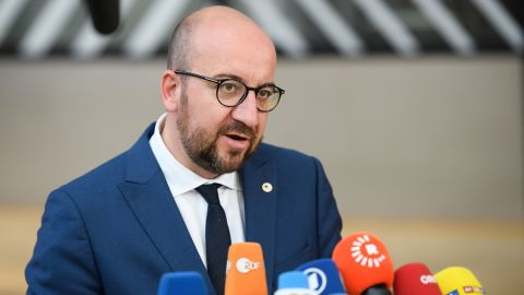 Belgian Prime Minister Charles Michel arrives at the EU Council headquarters ahead of a European Council meeting on June 22, 2017 in Brussels, Belgium. In the first European summit since she lost her Commons majority in the general election, British Prime Minister Theresa May will outline her plans for the issue of expats' rights after Brexit. (Photo by Leon Neal/Getty Images)